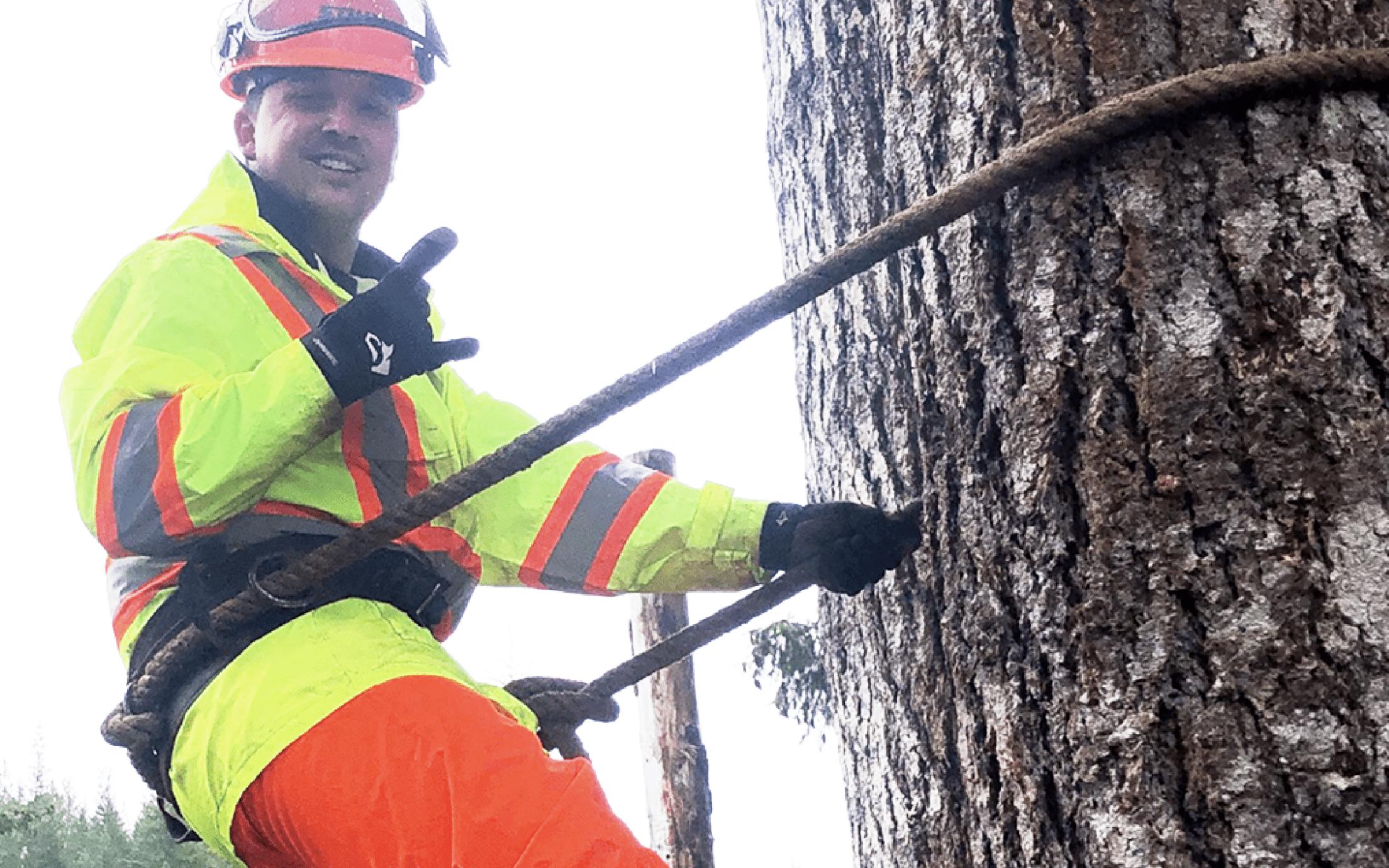 Adam Klassen in the Fundamentals of Forestry Harvesting (FFHP) program
