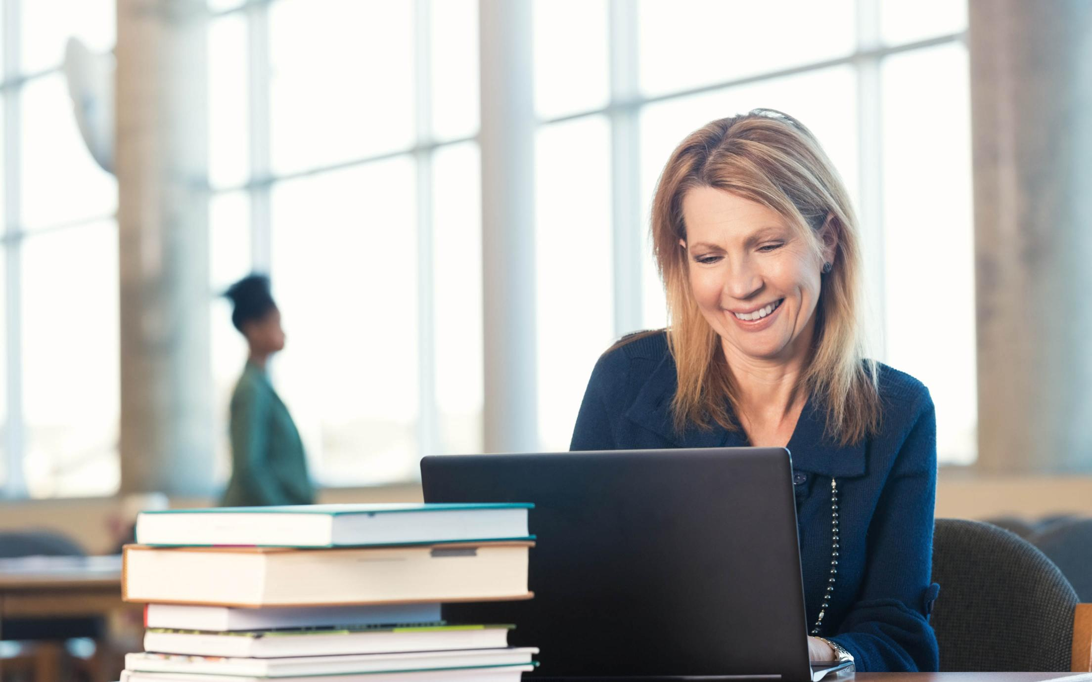 An adult student of the Applied Business Technology - Online program