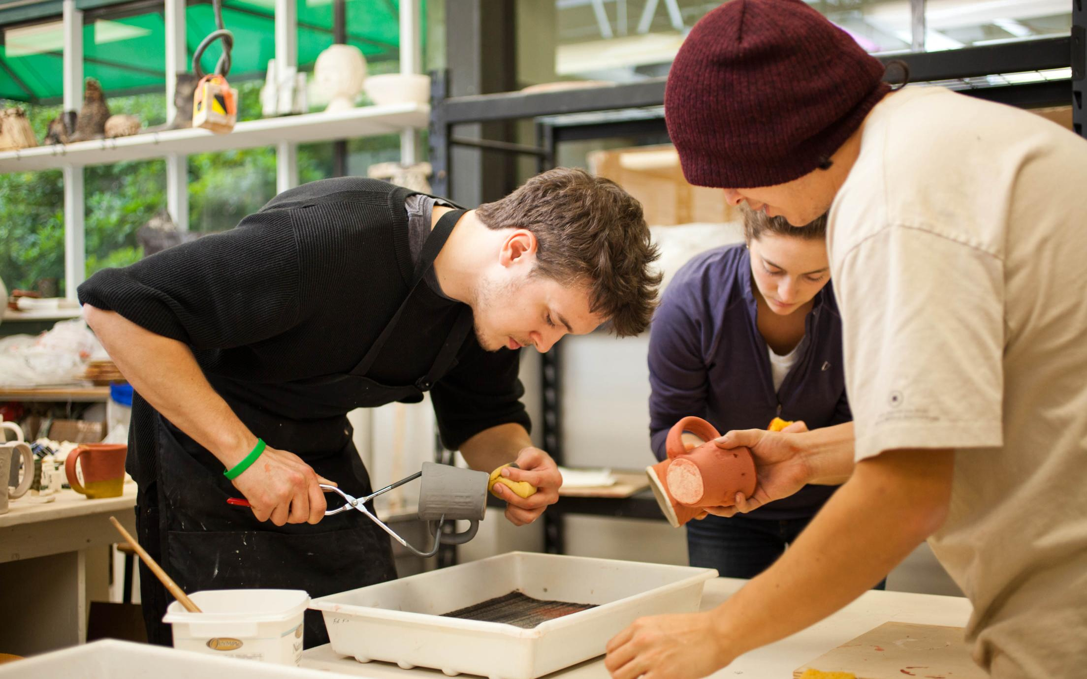 A diverse group of Students of Vancouver Island University's Art Program