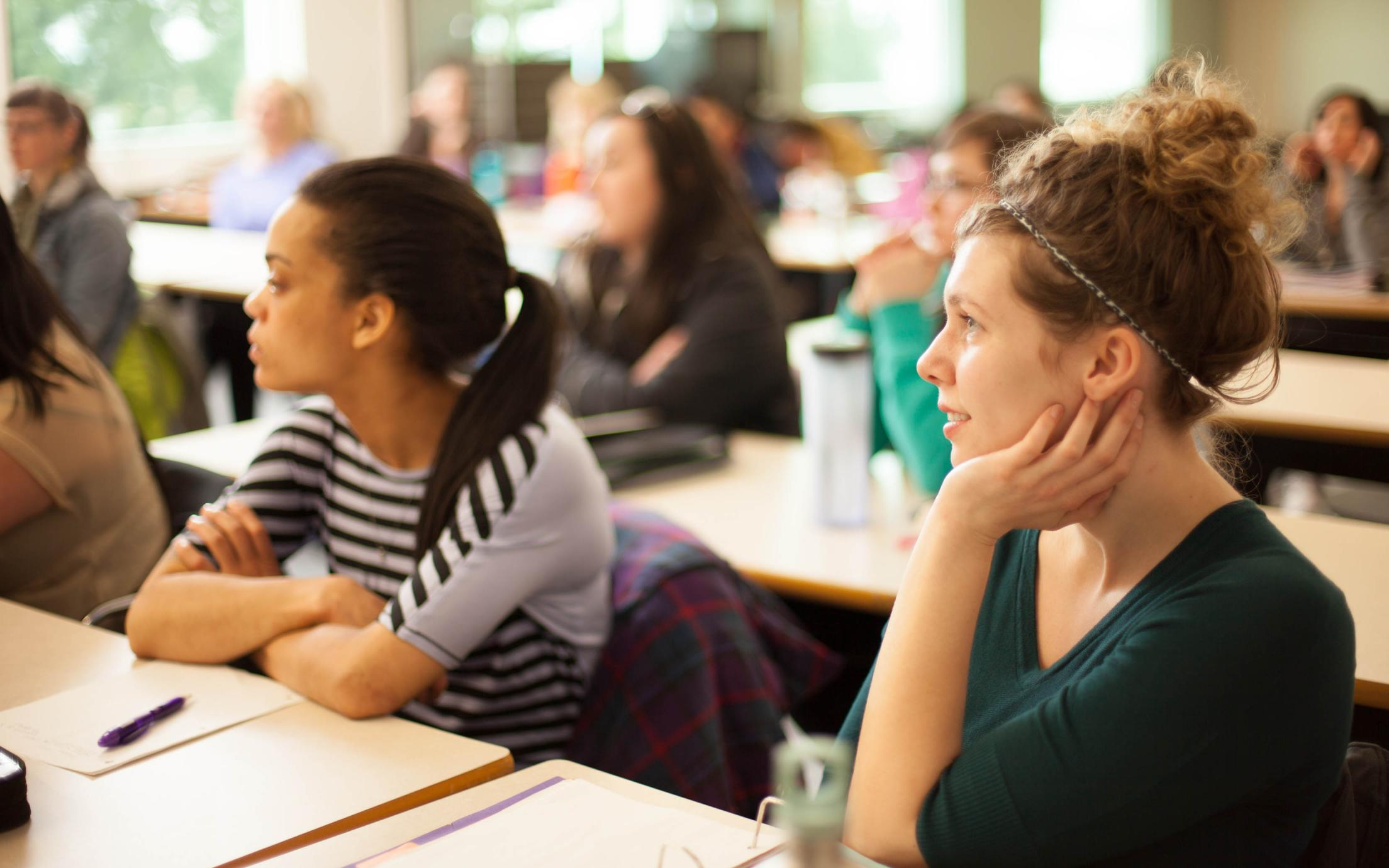 Bachelor of Arts, Major, Minor in Economics students attending a lecture