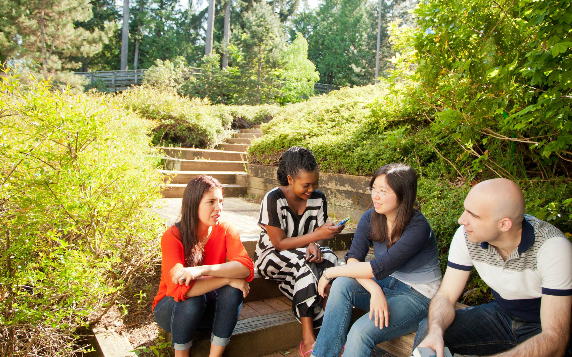Bachelor of Arts, Major, Minor in Global Studies enjoying the beautiful Nanaimo campus