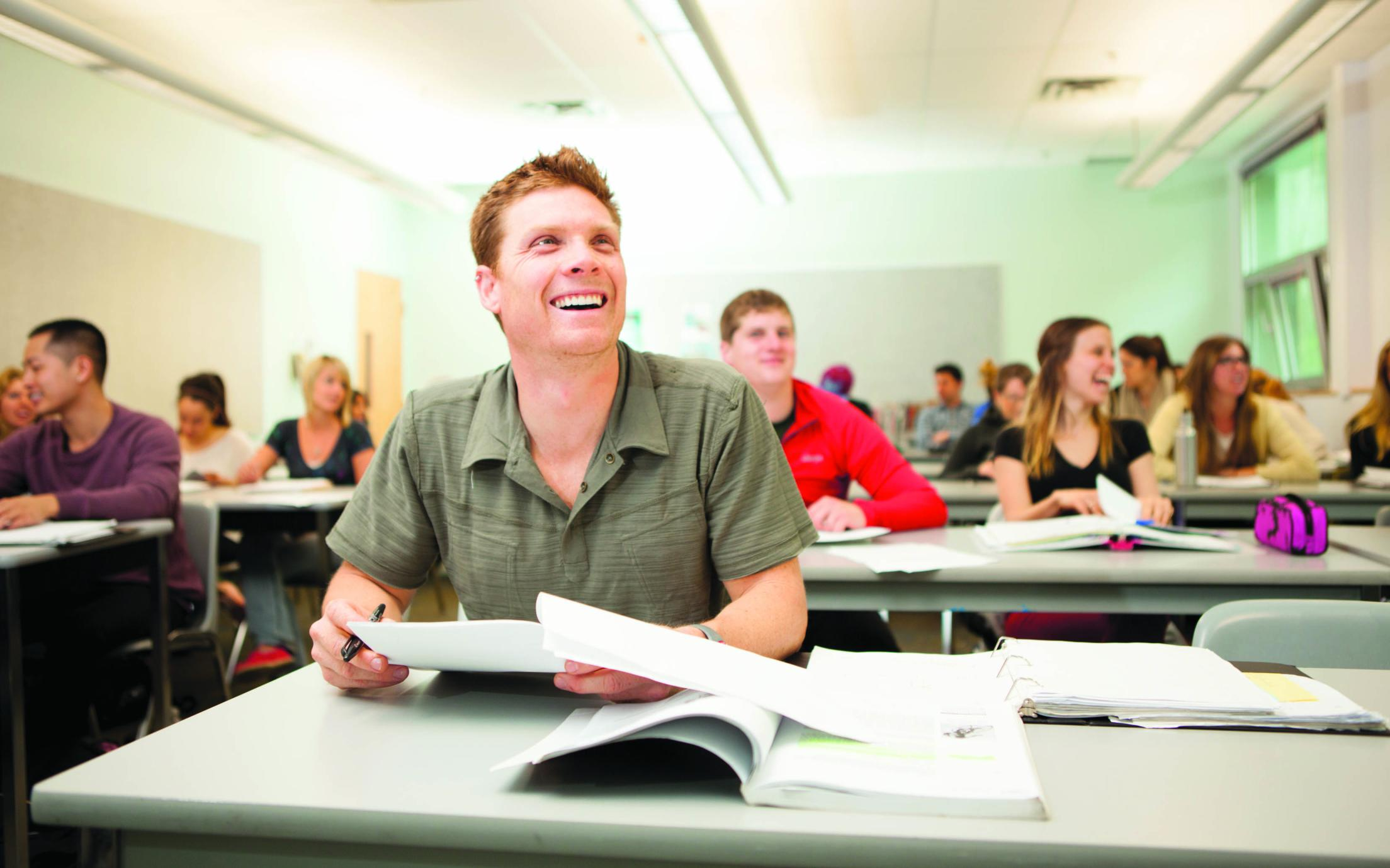 Students of the Bachelor of Education - Post Baccalaureate Degree in class