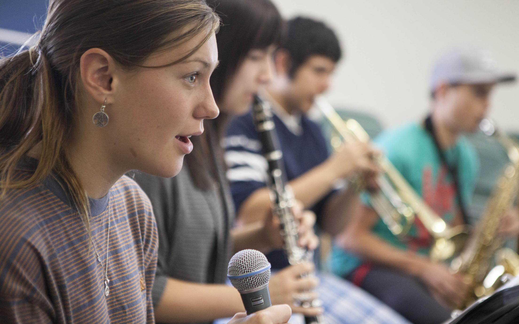 Bachelor of Music in Jazz Studies students playing instruments