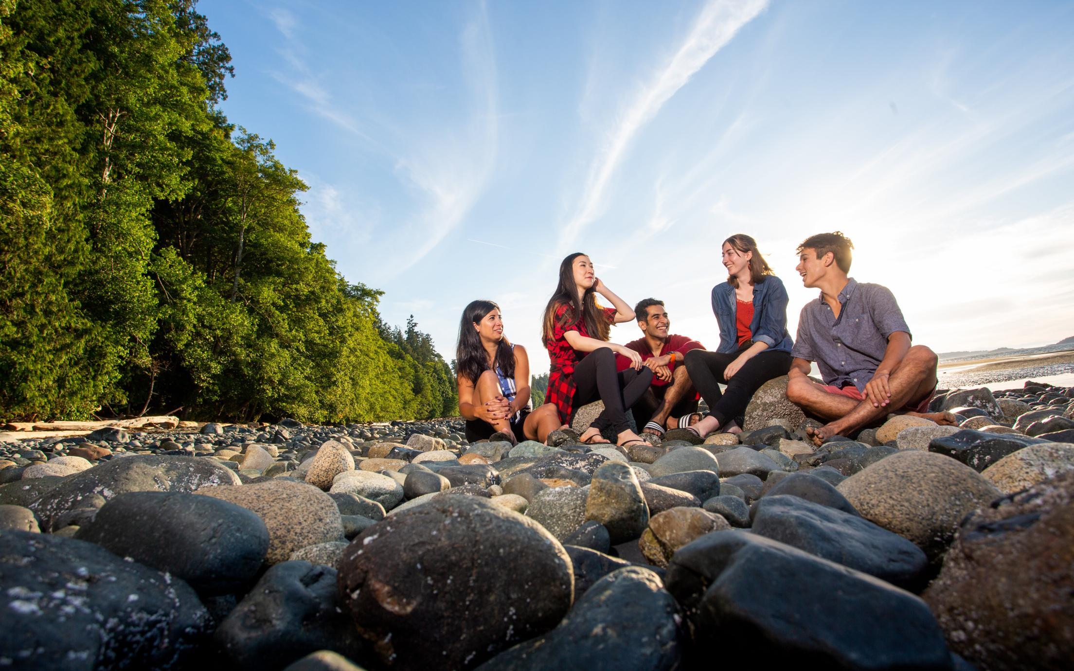 VIU Students at Beach