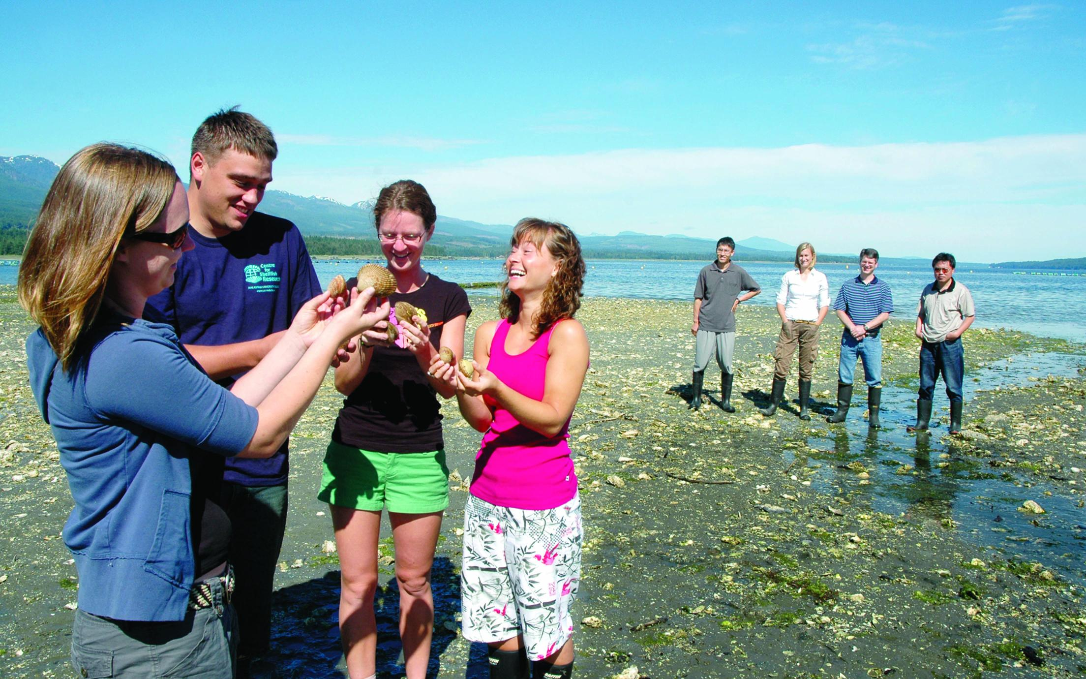 A future Fishery Officer with other students of the Fisheries and Aquaculture Technology program on a field trip