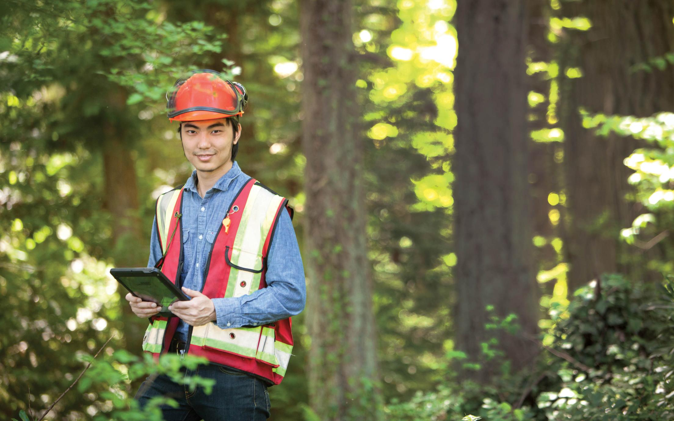 A former Student of Vancouver Island University's Forest Resources Technology program found work as a forestry engineer