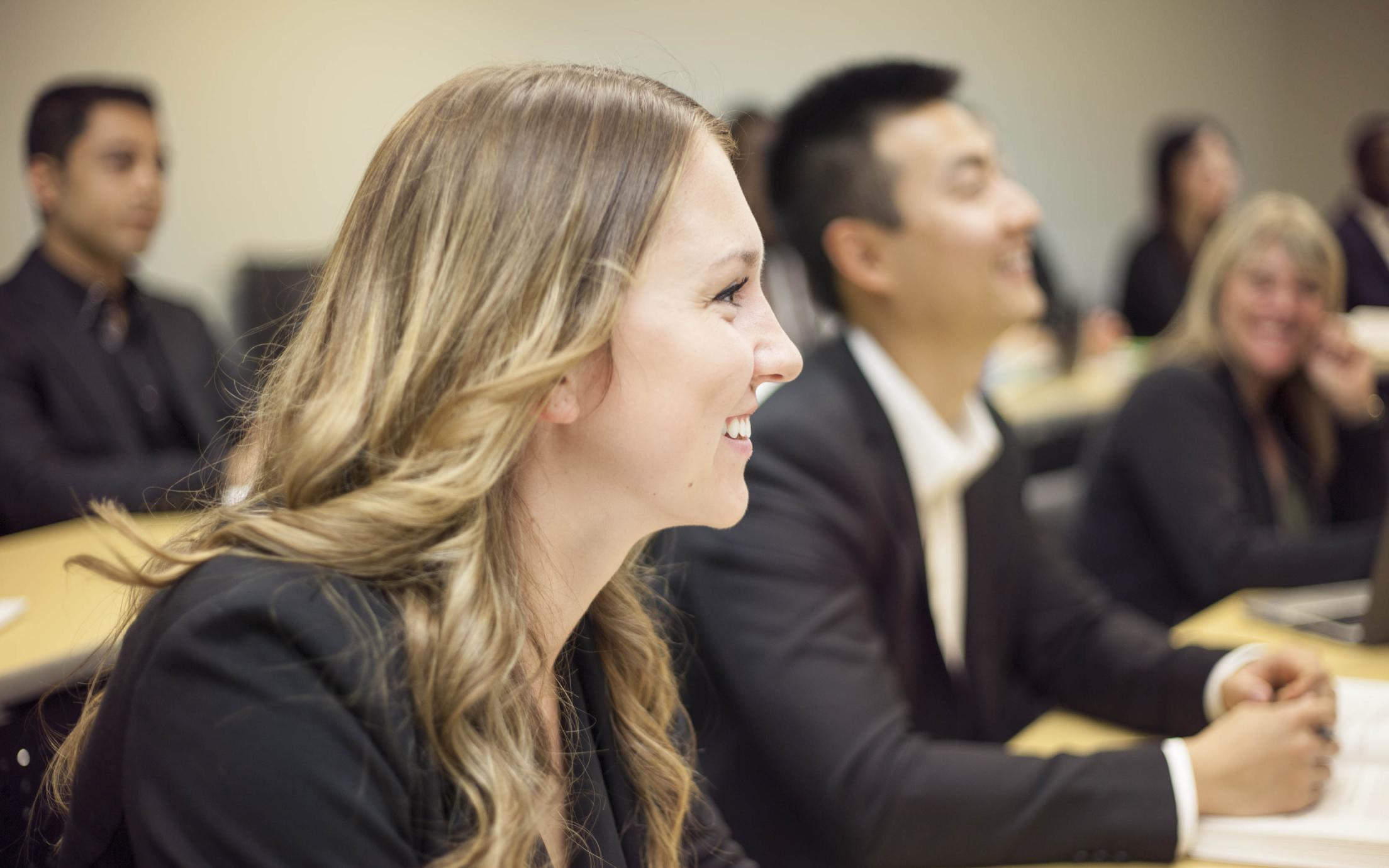 VIU's Master of Business Administration (MBA) students in class