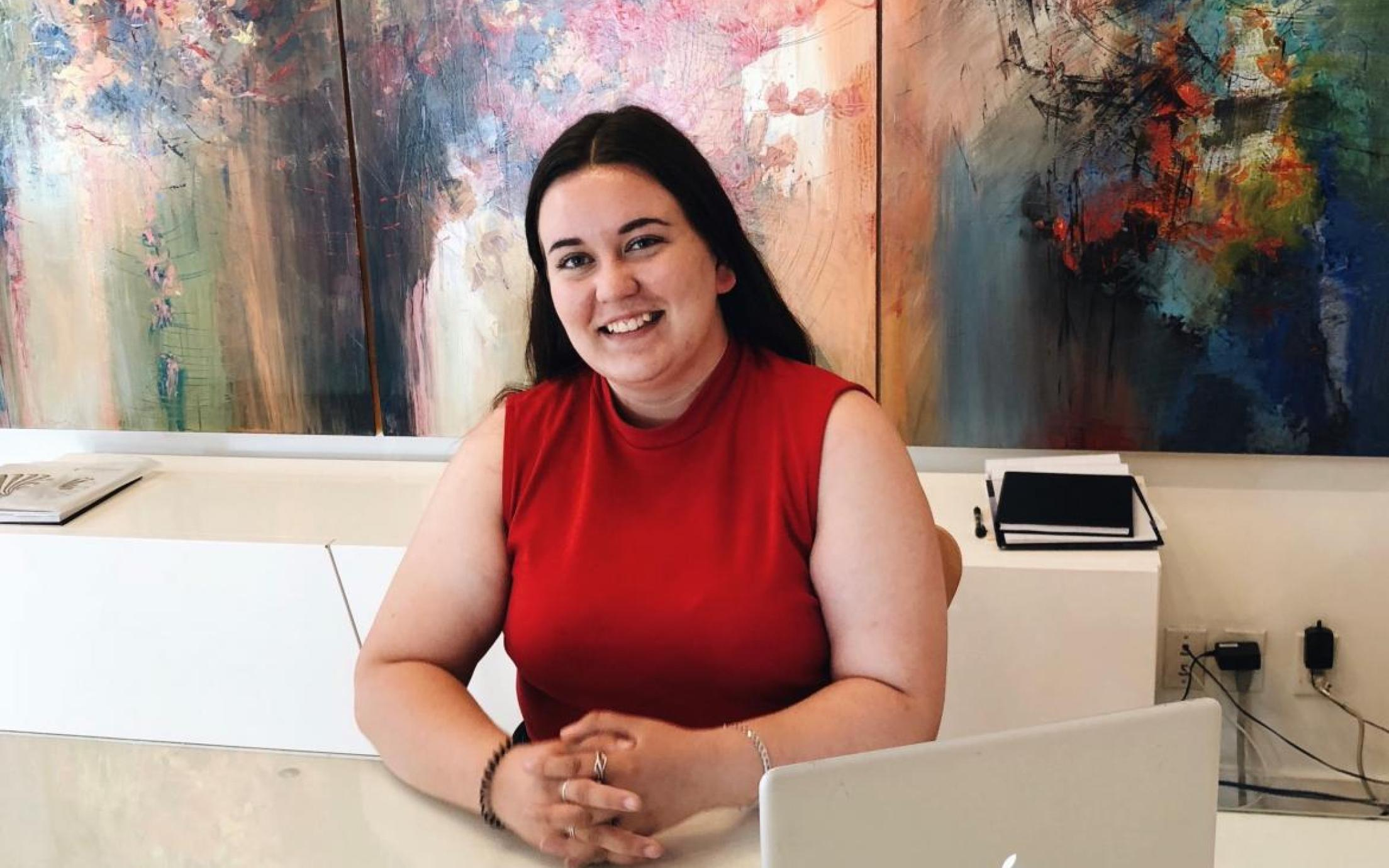 Bachelor of Arts, Visual Art major student Maggie Hinbest