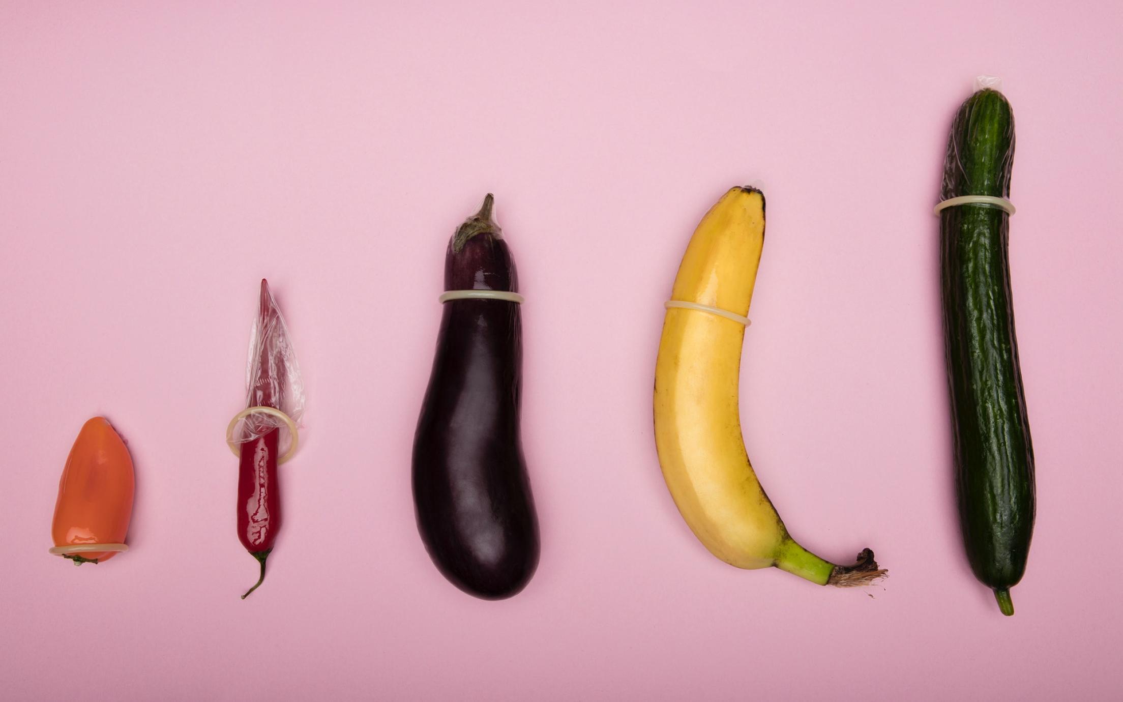 Condoms on veggies
