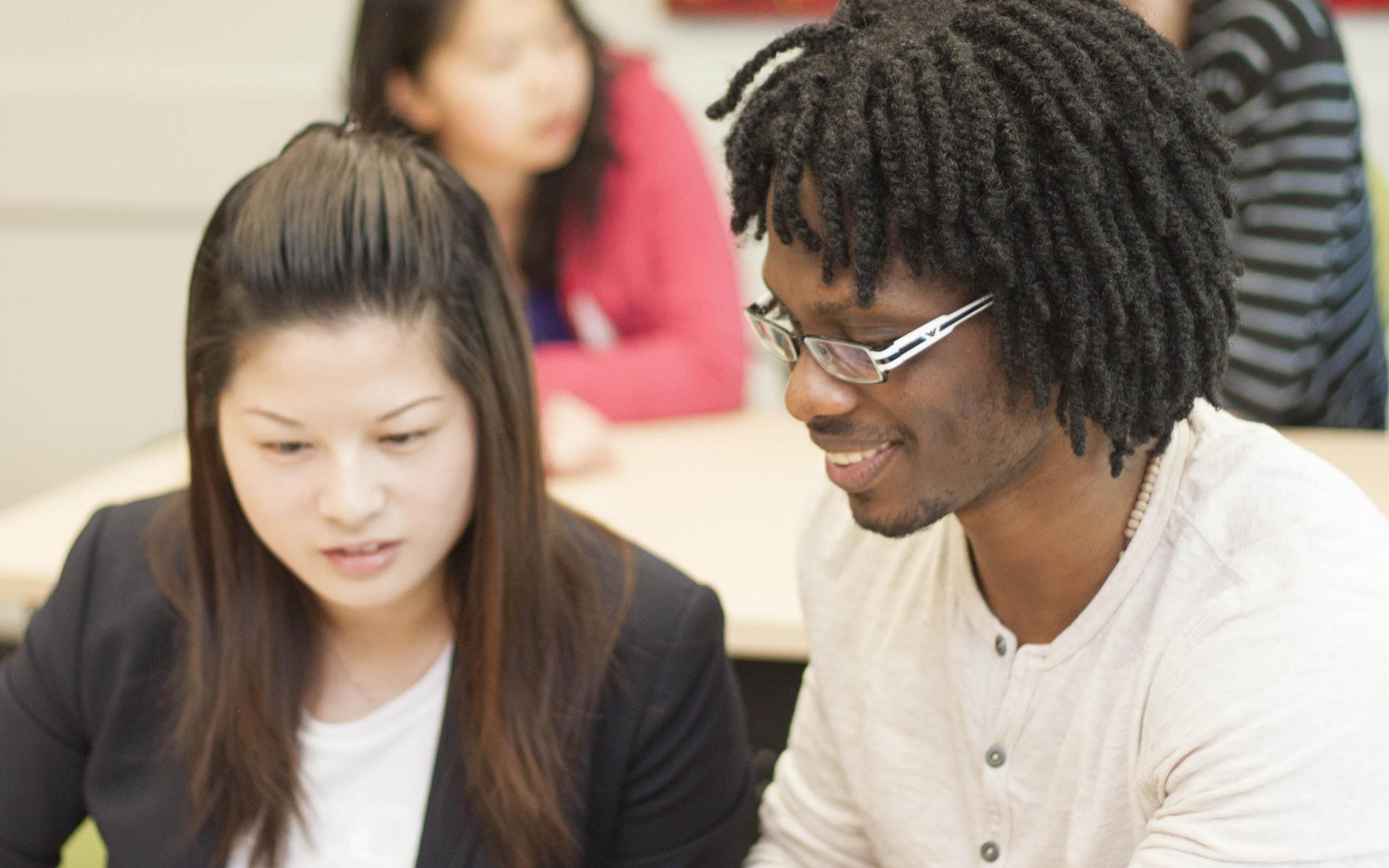 Romance Language students in class