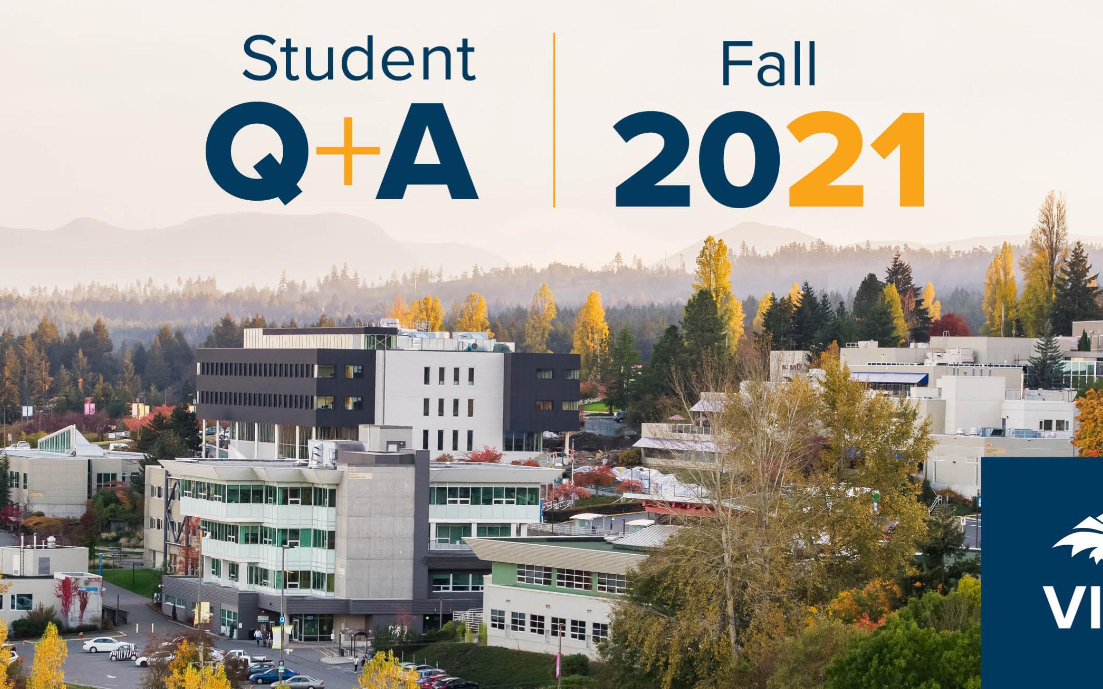 Aerial view of VIU campus