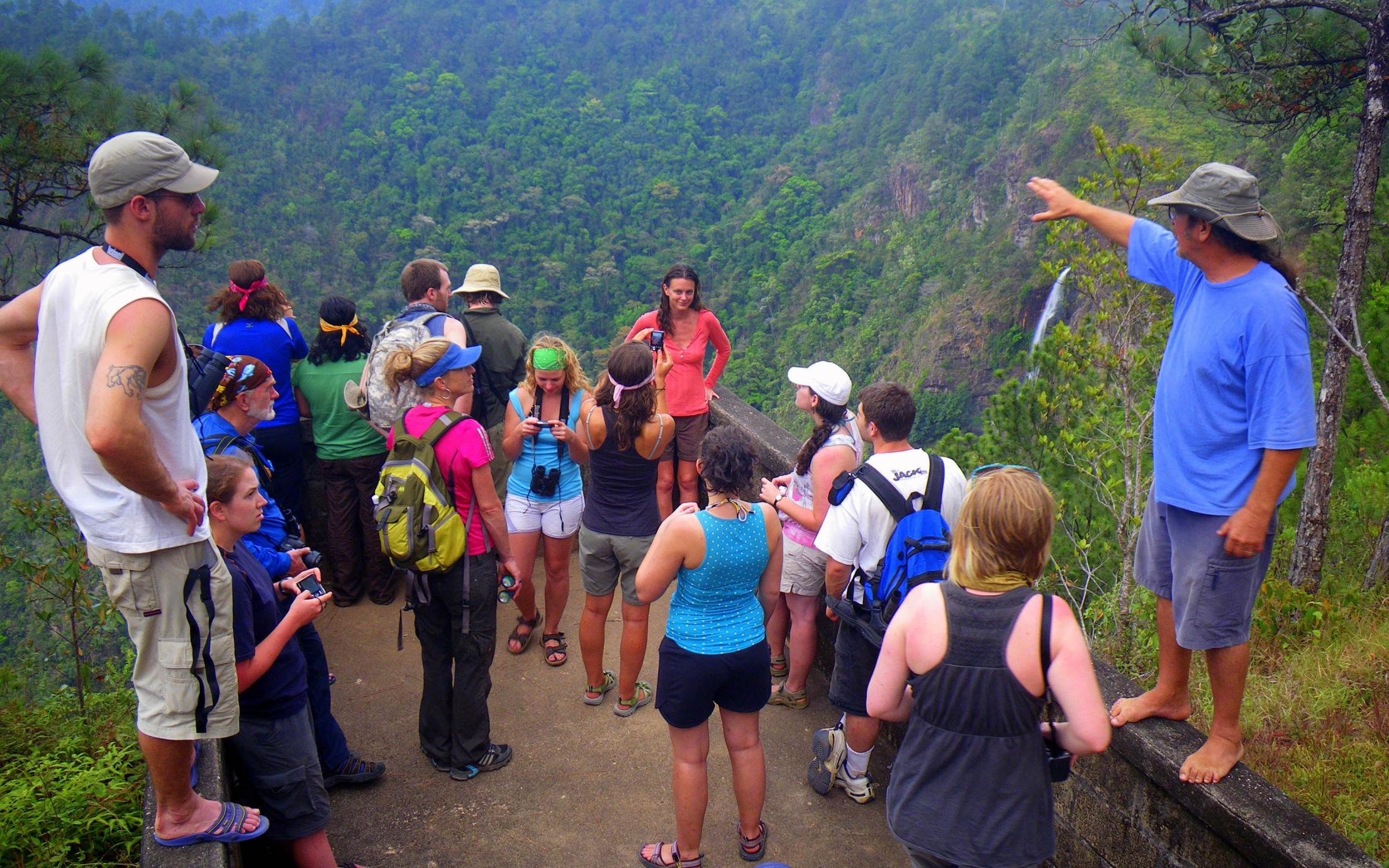 Students of the Tourism Studies Diploma Program on a field trip in the mountains