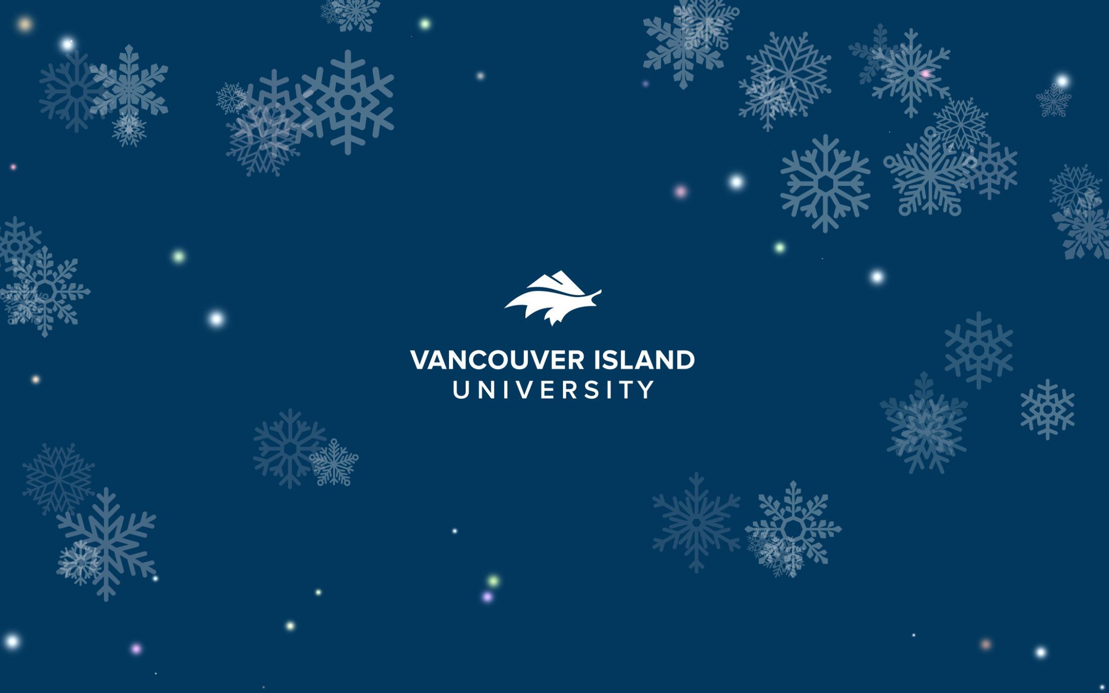 VIU logo with snowflakes
