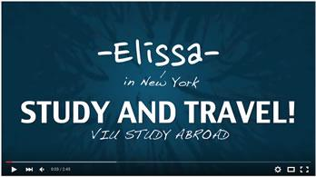 Video title image - Elissa shares her study abroad experience to New York City