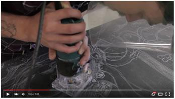 Video title image - Check out this cool art project....Steamroller Block Printing with the Visual Arts Program