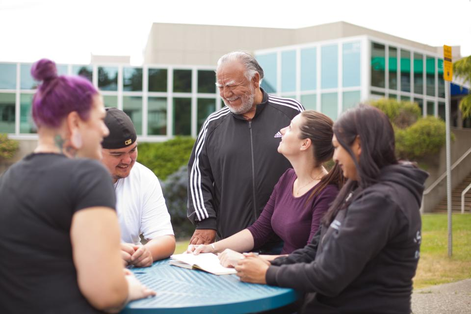 Community cousins and Uncle Gary, VIU-Elder-in-Residence