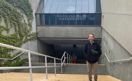 Lennart on the VIU Nanaimo campus
