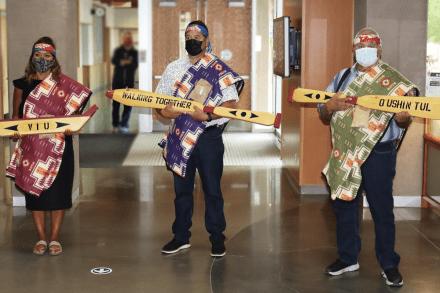 VIU Cowichan Paddle Ceremony